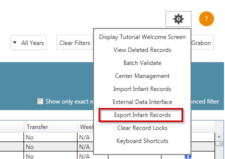 eNICQ 6 - Exporting Infant Records to an XML or JSON File